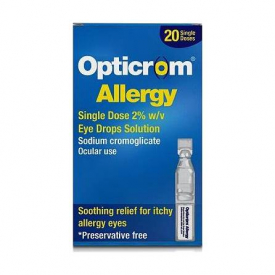 Opticrom Allergy Eye Drops - 20 Single Doses (Preservative Free)