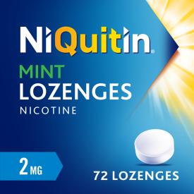 Niquitin 2mg Mint Lozenges - 72 Lozenges