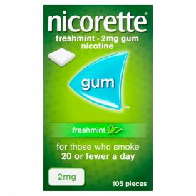 Nicorette Freshmint Sugar Free 2mg Gum - 105 Pieces
