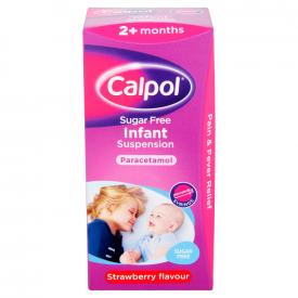 Calpol Sugar Free Infant Suspension Strawberry - 100ml