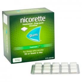 Nicorette Freshmint 2mg Gum - 210 Pieces