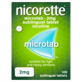 Nicorette Microtab Original 2mg Nicotine – 100 Sublingual Tablets