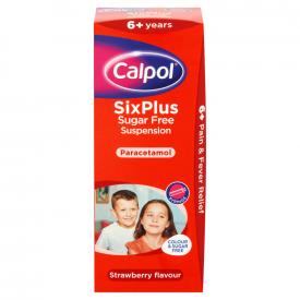 Calpol SixPlus Sugar Free Strawberry Suspension 200ml