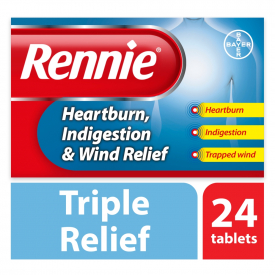 Rennie Heartburn, Indigestion & Wind Relief – 24 Chewable Tablets