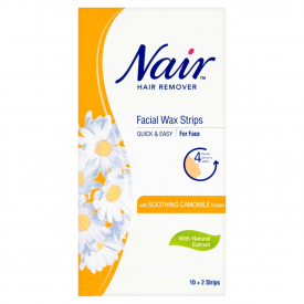 Nair Facial Wax Strips with Chamomile - 12 Strips