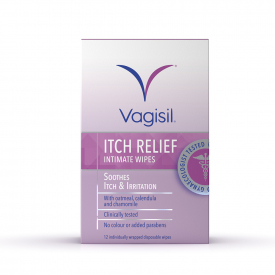 Vagisil Itch Relief Intimate Pack of 12 Wipes