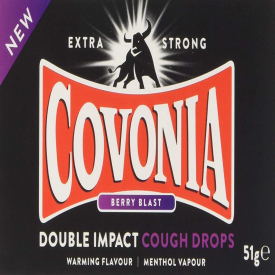 Covonia Double Impact Cough Drops Berry Blast - 51g