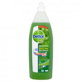 Dettol Complete Clean Antibacterial Spray & Wipe Green Apple - 1 Litre