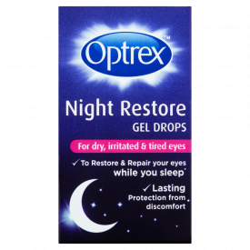 Optrex Night Restore Gel Drops for Dry Irritated Tired Eyes – 10ml