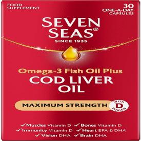 Seven Seas Pure Cod Liver Oil Extra High Strength – 30 Capsules