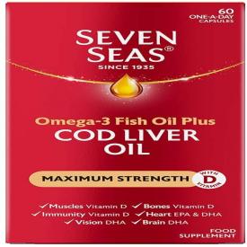 Seven Seas Pure Cod Liver Oil Extra High Strength – 60 Capsules