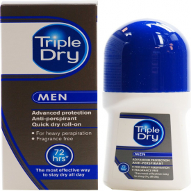 Triple Dry Mens Active Roll On Anti-Perspirant - 50ml