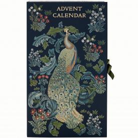 Morris & Co Peacock Advent Calendar (Blue)