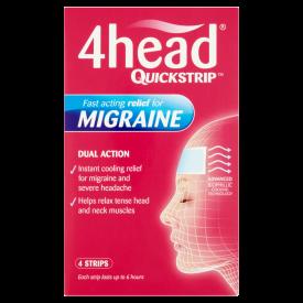 4Head Quickstrip Headache and Migraine Relief Strips - 4 Strips