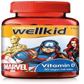 Vitabiotics Wellkid Marvel Vitamin D - 50 Vegan Soft Jellies