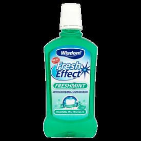 Wisdom Fresh Effect Freshmint Antibacterial Mouthwash - 500ml