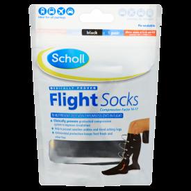 Scholl Flight Socks Black 1 Pair - Shoe Sizes 6.5-9