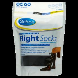 Scholl Flight Socks Black 1 Pair - Shoe Sizes 9.5-12