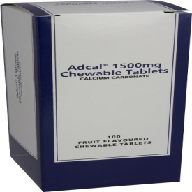 Adcal Calcium Carbonate 1500mg - 100 Tablets