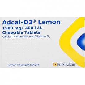 Adcal-D3 1500mg/400IU - 56 Chewable Lemon Tablets