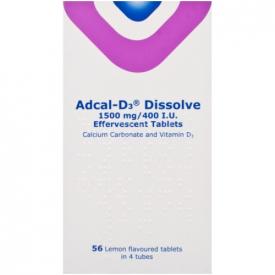 Adcal-D3 1.5g / 400IU - 56 Dissolvable Lemon Tablets