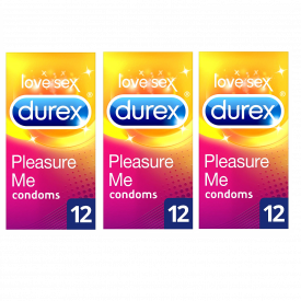 Durex Pleasure Me 12 Condoms - Case Of 3