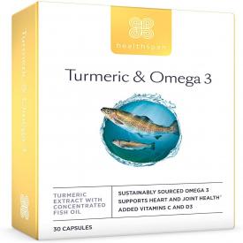 Healthspan Turmeric & Omega 3 - 30 Capsules