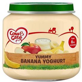 Cow & Gate Jar Yummy Banana Yoghurt 125g (Case Of 6)