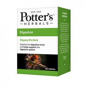Potter's Herbals Digestion Slippery Elm Bark - 60 Chewable Tablets