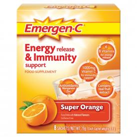 Emergen-C Energy Release & Immunity Support - 8 x 9.9g Sachets
