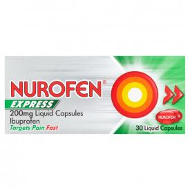 Nurofen Express 200mg Liquid Capsules - 30 Pack