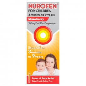 Nurofen For Children Strawberry Liquid - 100ml