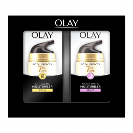 Olay Total Effects Anti-Ageing Day & Night Firming Moisturiser - 2 x 37ml