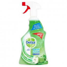 Dettol Power & Fresh Multipurpose Cleaning Spray Apple - 1 Litre