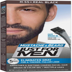 Just For Men Beard Gel Real Black 60ml - (Case Of 6)