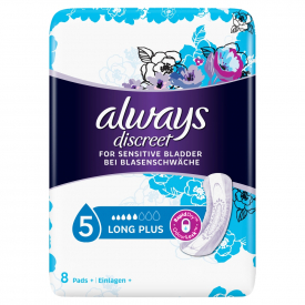 Always Discreet Incontinence Pads Long Plus - 8