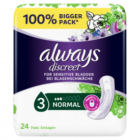 Always Discreet Incontinence Pads Normal - 24