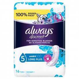 Always Discreet Incontinence Pads Long Plus - 16