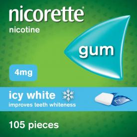 Nicorette Icy White 4mg Gum – 105 Pieces