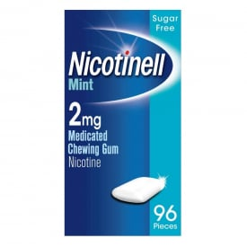 Nicotinell Mint 2mg Medicated Chewing Gum – 96 Pieces