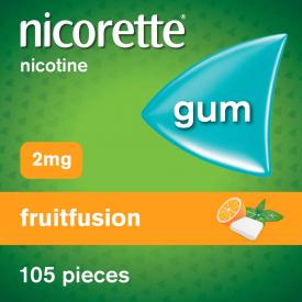 Nicorette Fruitfusion 2mg Gum 105 Pieces