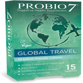 Probio7 Global Travel Digestive Health Supplement - 15 Capsules