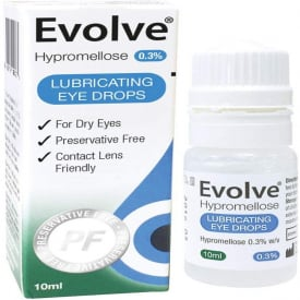 Evolve Hypromellose Eye Drops 0.3% Preservative Free - 10ml