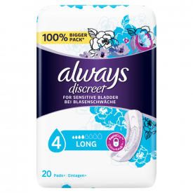 Always Discreet Incontinence Pads Long - 20