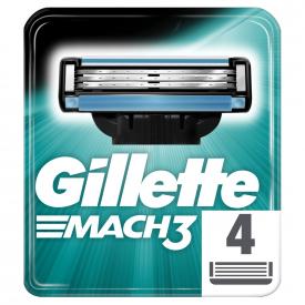 Gillette Mach 3 Razor Blades For Men - 4 Refills