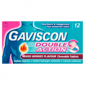 Gaviscon Double Action Chewable Tablets Mixed Berries - 12 Tablets