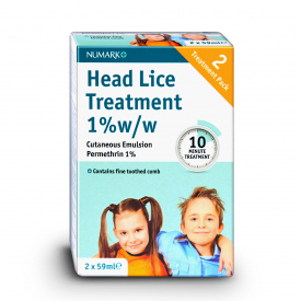 Numark Head Lice Treatment & Toothed Comb - 2 x 59ml