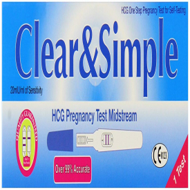 Clear & Simple Pregnancy Kit Midstream - 1 Test