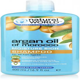 Natural World Moroccan Argan Oil Shampoo - 500ml
