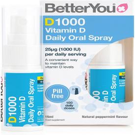 Betteryou D1000 Daily Oral Spray 1000IU (25mcg) - 15ml